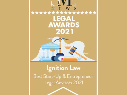 Ignition Awarded 'Best Start-Up Entrepreneur Legal Advisors 2021'
