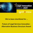 Ignition Law Shortlisted for Legal Innovation Awards 2021