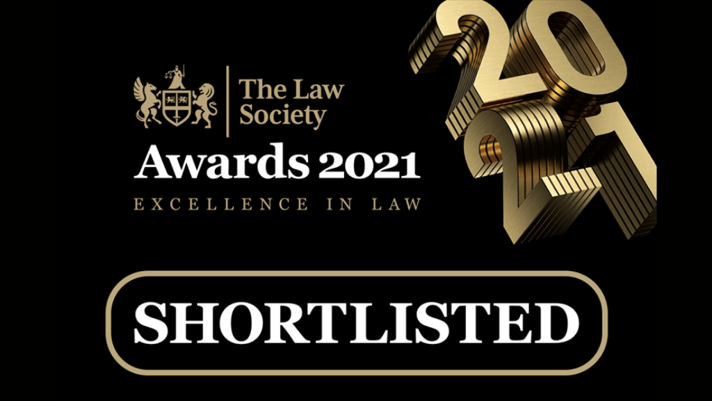 Law technology and innovation - shortlisted for 2021 awards